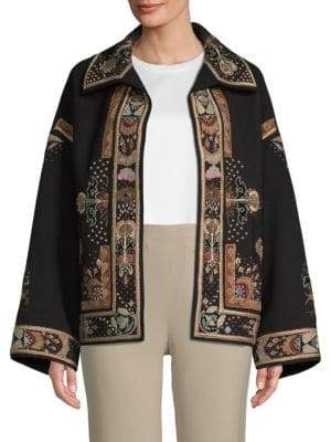 Valentino Embroidered Wool Jacket