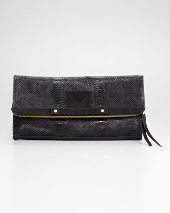 Twelfth St. By Cynthia Vincent Banker's Oversize Fold-Over Clutch Bag