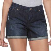 JLO by Jennifer Lopez Women's Distressed Jean Shorts