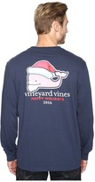 Vineyard Vines Long Sleeve Bearded Santa Whale Pocket T-Shirt