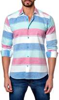 Jared Lang Striped Long Sleeve Trim Fit Shirt
