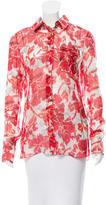 Altuzarra Silk Floral Print Top