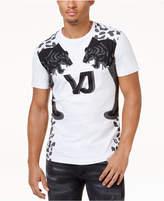 Versace Men's Tiger Print Stretch T-Shirt