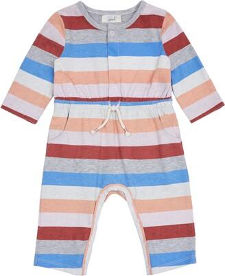 Peek Aren't You Curious Maisy Rainbow Stripe Romper