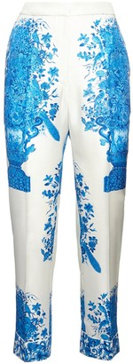 Valentino Delft Printed Silk Twill Pants