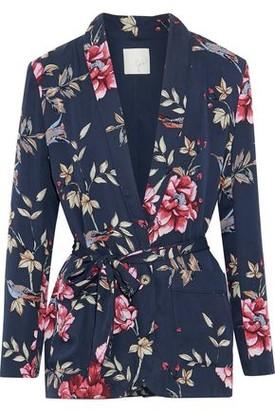 Joie Anasophia Floral-print Silk Kimono