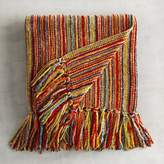 Pier 1 Imports Chenille Streamers Striped Throw