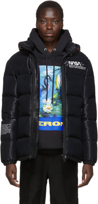 Heron Preston Black Down Puffer Jacket