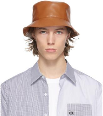Loewe Tan Leather Fisherman Bucket Hat