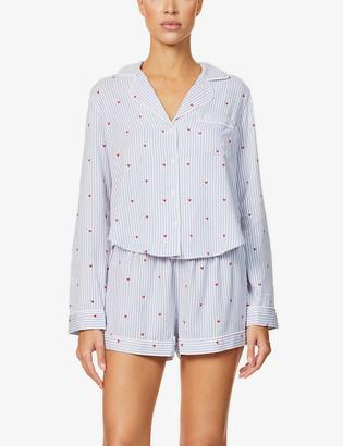 Rails Kellen striped woven pyjama set