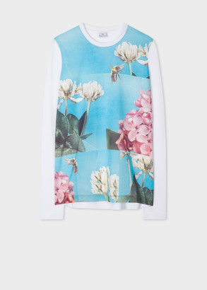 Paul Smith Women's 'Blossom Bee' Print Long-Sleeve T-Shirt