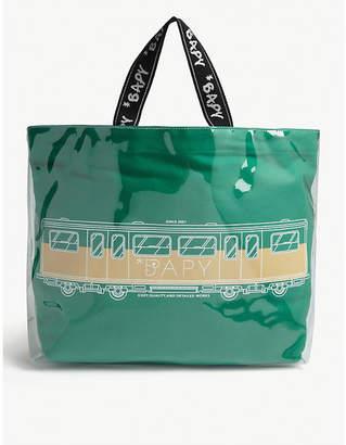 BAPY PVC-coated canvas train tote bag