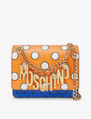 Moschino Chain Logo Polka Dot Cross-Body Bag