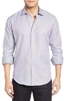 Bugatchi Men's Shaped Fit Tattersall Sport Shirt
