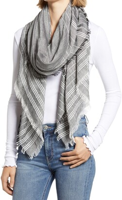 Treasure & Bond Stripe Cotton Blend Scarf