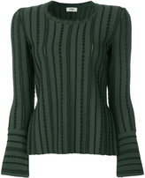 Fendi slit striped jumper