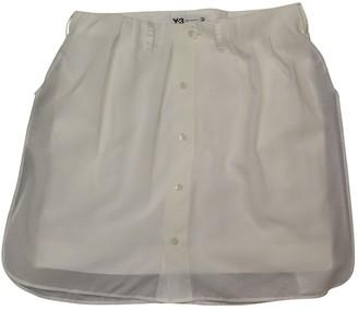 Y-3 White Silk Skirt for Women