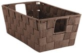 Whitmor Woven Strap Small Shelf Storage Tote, Java