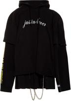 Vetements Double-sleeve hooded sweat dress