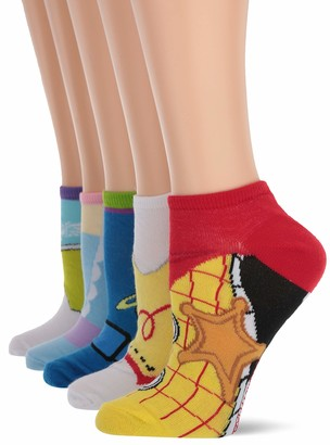 Toy Story Women's 5 Pack No Show Socks