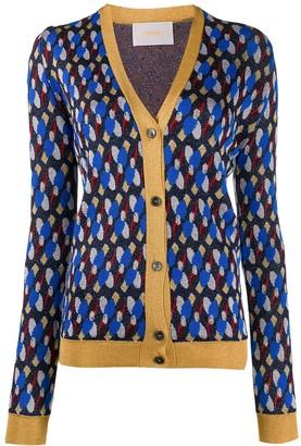 La DoubleJ metallic patterned cardigan