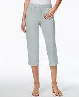 Style&Co. Style & Co. Tummy-Control Cuffed Capri Jeans