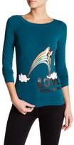 Love Moschino Rainbow Graphic Long Sleeve Shirt