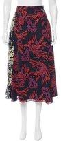Tanya Taylor Floral Print Silk Skirt w/ Tags