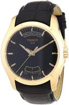 Tissot Men's T0354073605100 Couturier Dial Rose Gold PVD coated Case Watch