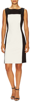Josie Natori Cotton Colorblock Sheath Dress