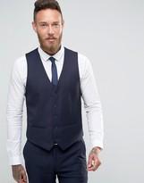 Farah Skinny Flannel Waistcoat