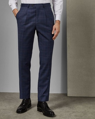 Ted Baker Tightlines Check Wool Suit Trousers