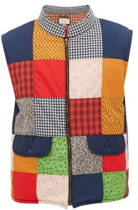 Gucci Logo-embroidered Patchwork Gilet - Mens - Multi