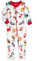 Hatley Holiday Cats Fitted One-Piece Pajamas (Baby)