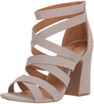 Qupid Women's Chunky Heeled Sandal