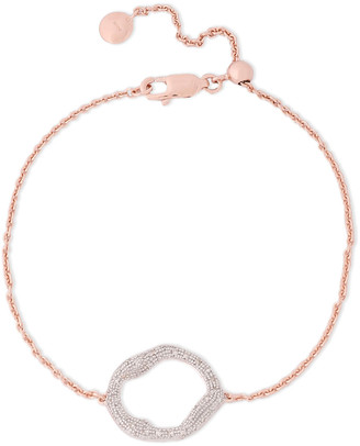 Monica Vinader 18-karat Rose Gold Vermeil Diamond Bracelet