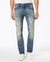 INC International Concepts Men's Slim Straight Medium Wash Ripped Jeans, Only at Macy's