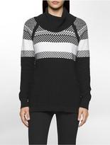 Calvin Klein Honeycomb Cowl Neck Sweater