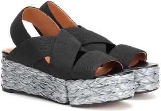 Clergerie Ancre raffia platform sandals