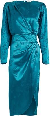 Ronny Kobo Jade Palm Jacquard Dress