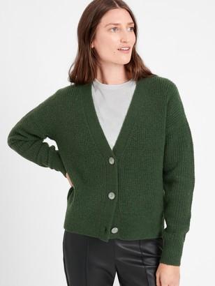 Banana Republic Aire Waffle-Knit Cardigan Sweater
