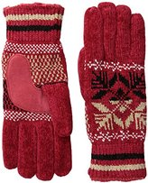 Isotoner Women's Microluxe Split Snowflake Rayon Chenille Glove