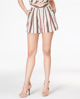 J.o.a. Striped High-Waist Shorts