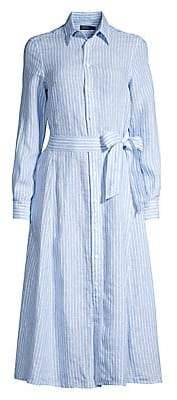 Polo Ralph Lauren Women's Ashton Striped Linen Shirt Dress