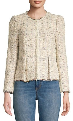 Rebecca Taylor Rainbow Tweed Peplum Jacket
