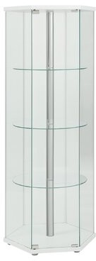 Randall Curio Cabinet Latitude Run Color: White