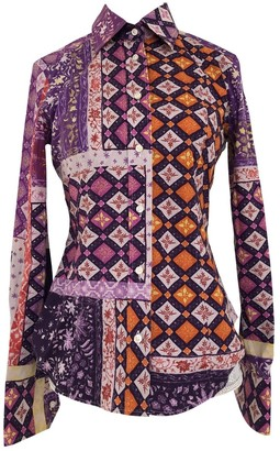 Etro Purple Cotton Top for Women