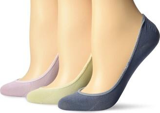 Sperry Women's Solid Micro Liner 3-Pair Socks