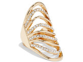 New York & Co. Pavé Wave Shield Ring
