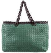 Bottega Veneta Intrecciato Leather Chain Shoulder Bag
